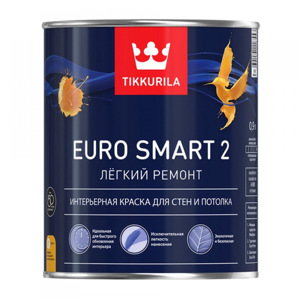 Euro Smart 2 - интерьерная краска для стен и потолка