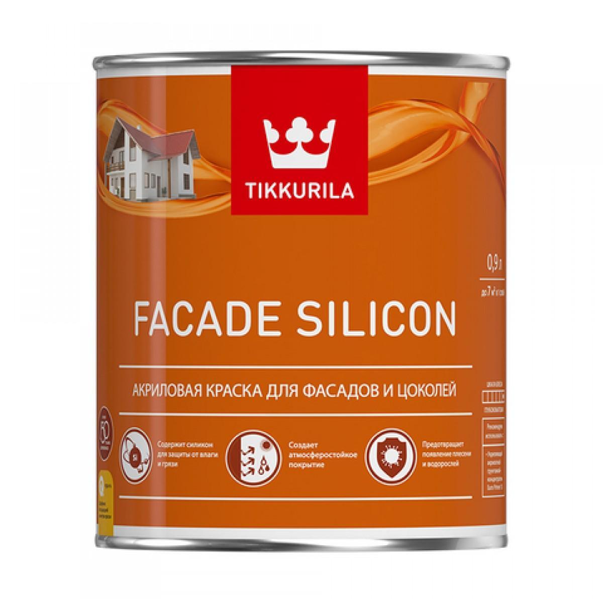 Facade Silicon - акриловая краска для фасадов и цоколей