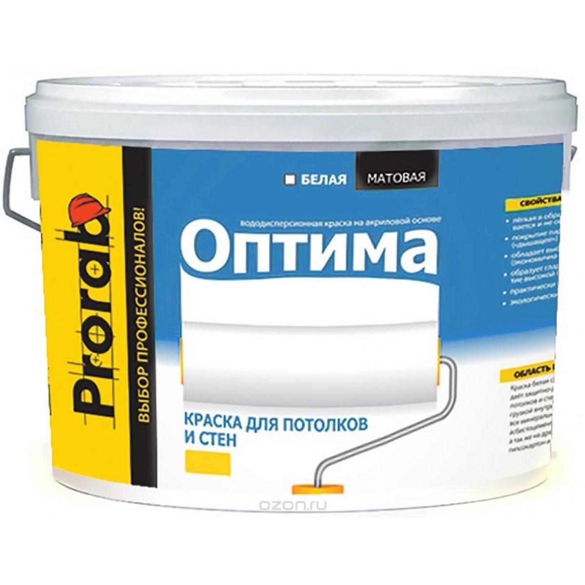 Краска Prorab ОПТИМА для стен и потолков