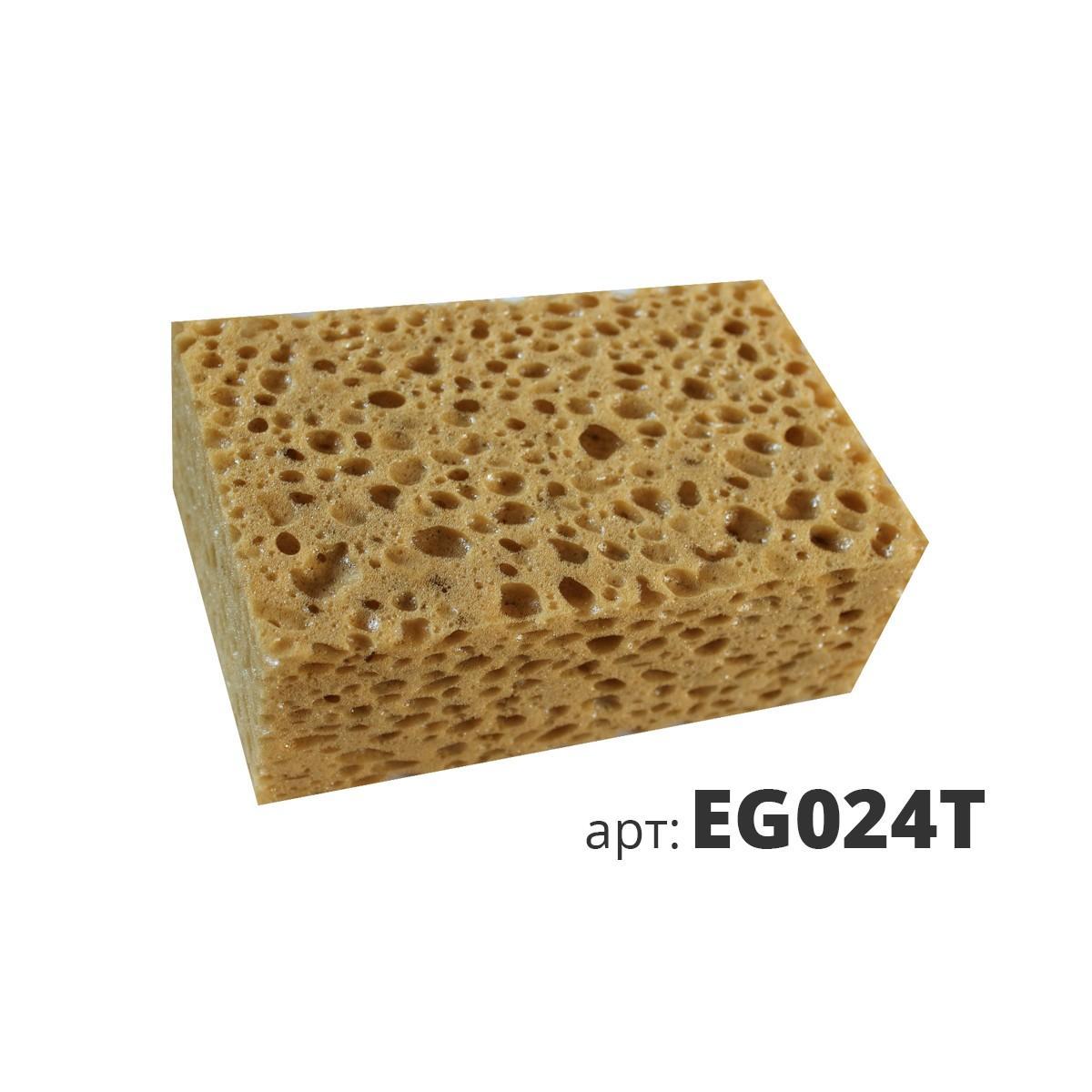 Коричневая крупнопористая поролоновая губка EG024T