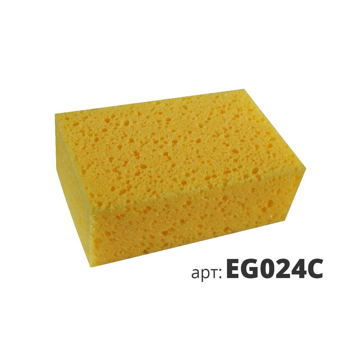 Желтая мелкопористая поролоновая губка EG024C
