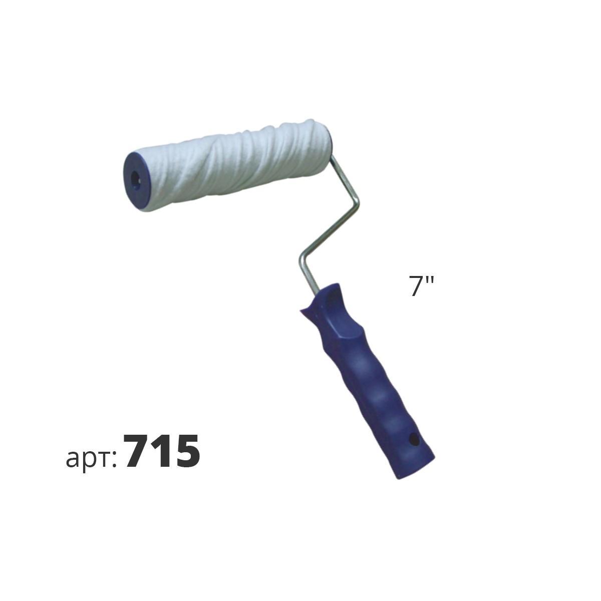 Декоративный валик из хлопчатобумажного волокна (спираль) 715