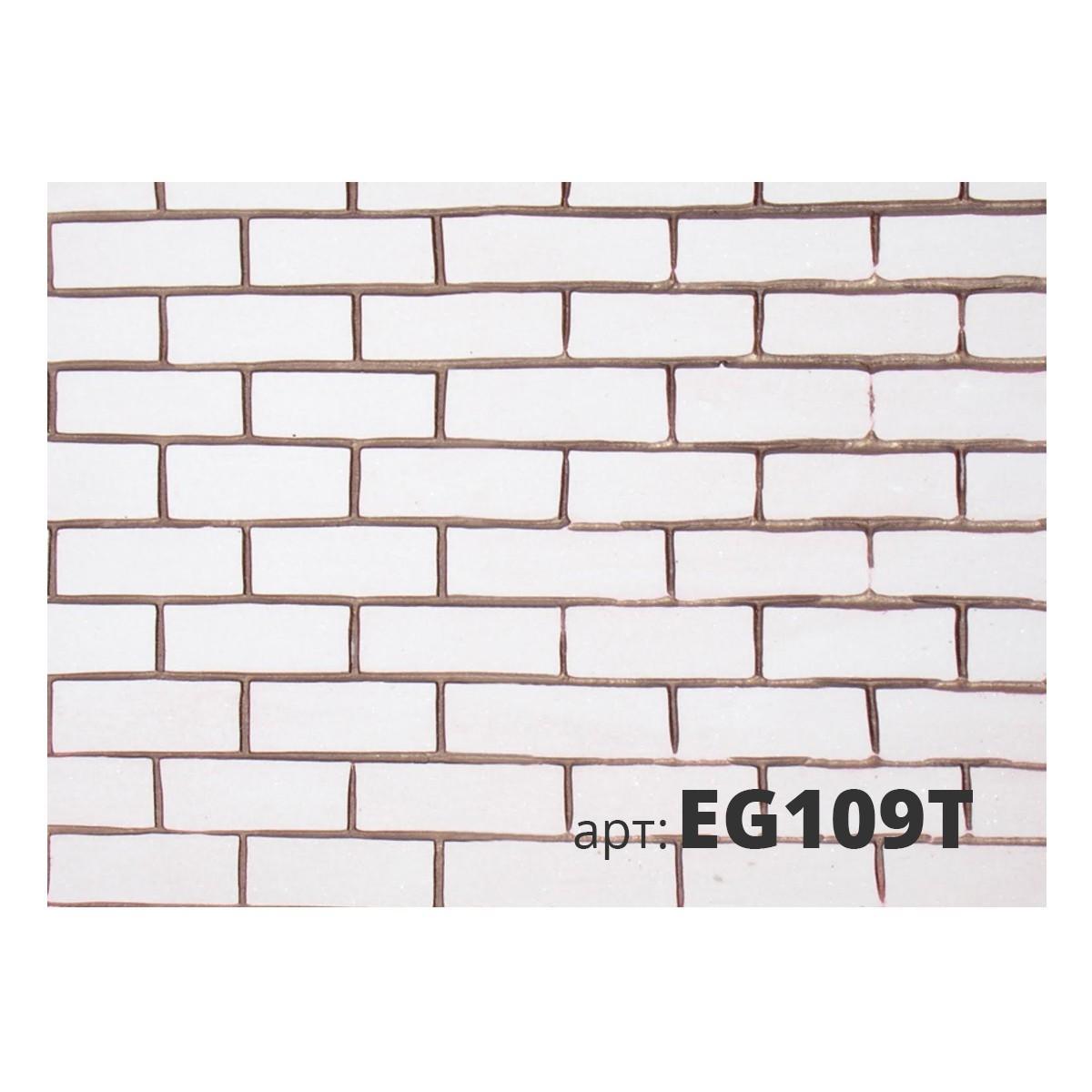 Декоративный жесткий резиновый валик КИРПИЧИ EG109T