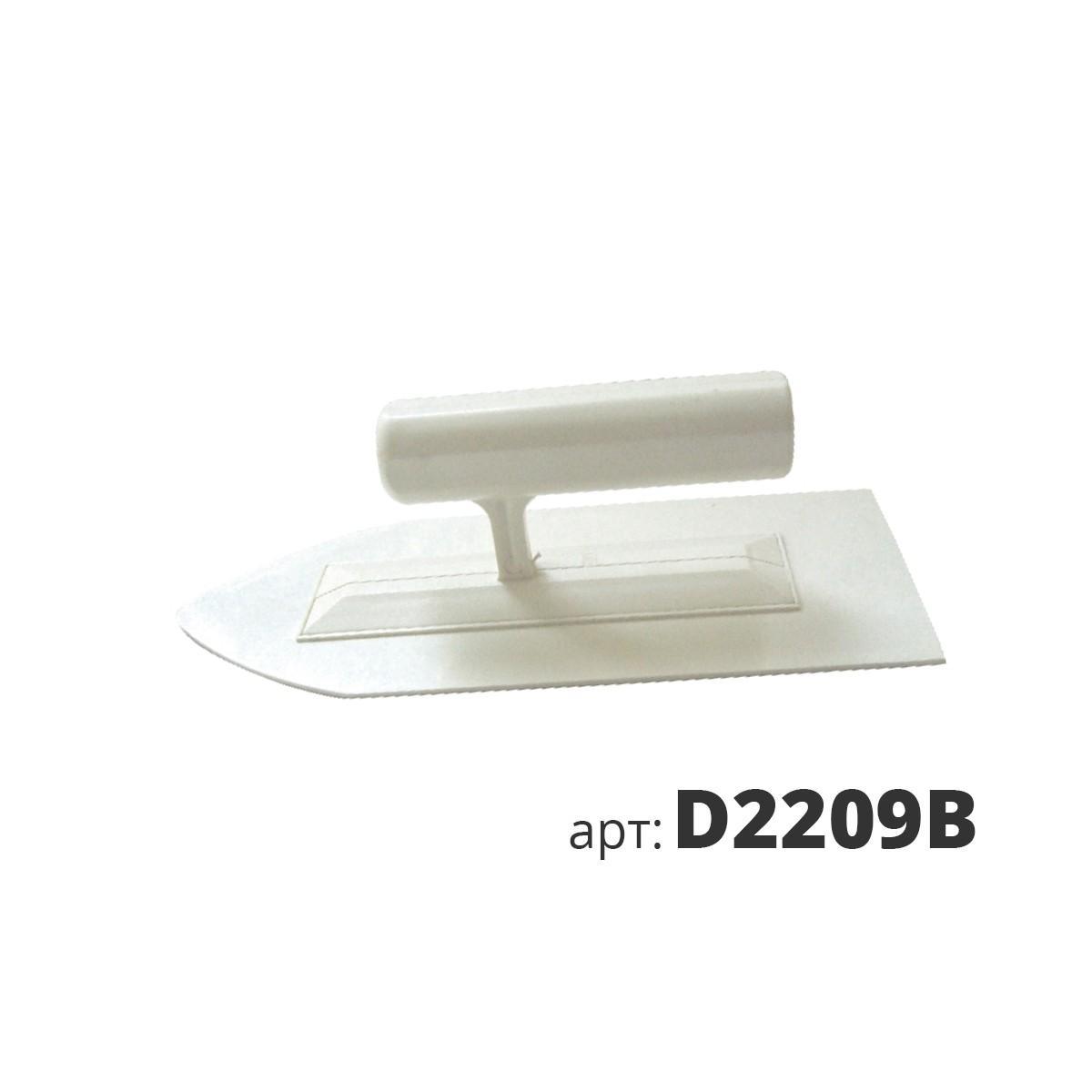 Кельма белая пластиковая остроугольная D2209B