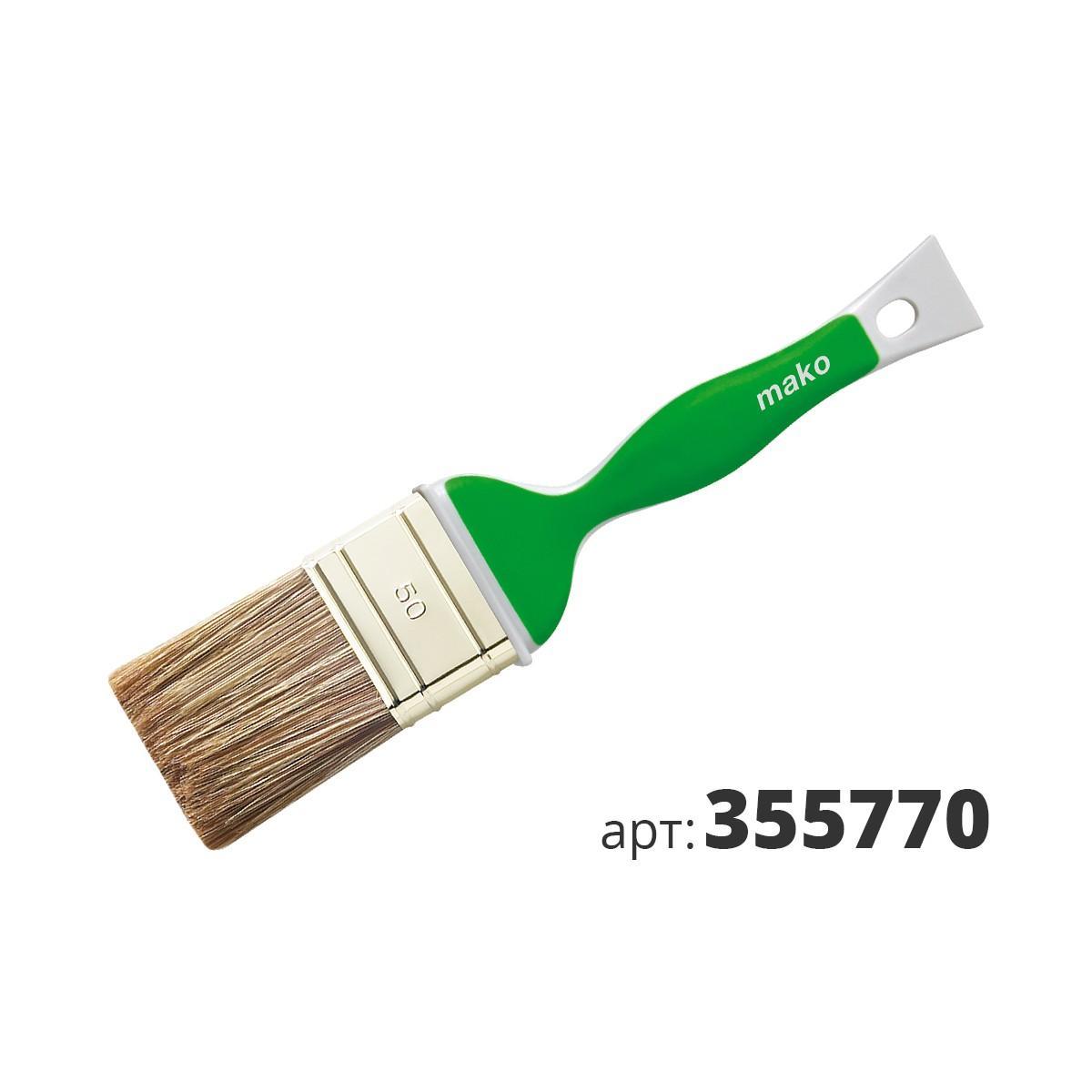 МАКО кисть флейцевая Soft Grip, смесь полиэстер (Hollester) и натуральной щетины 355770
