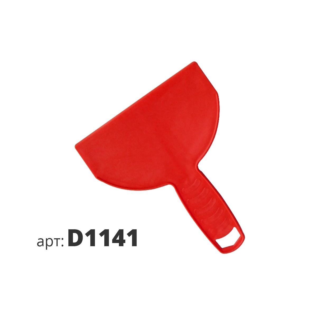 Шпатель-скребок красный пластиковый D1141