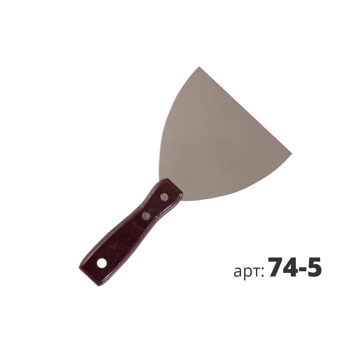 Шпатель из нержавеющей стали с деревянной ручкой 74-5