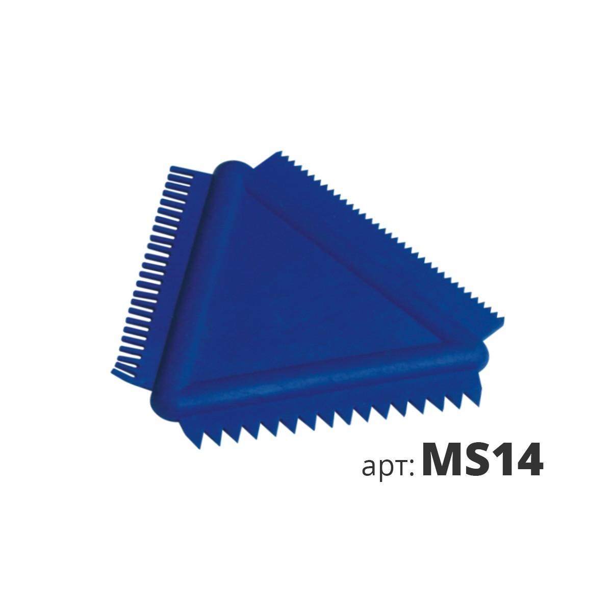 Скребок-гребенка треугольный MS14