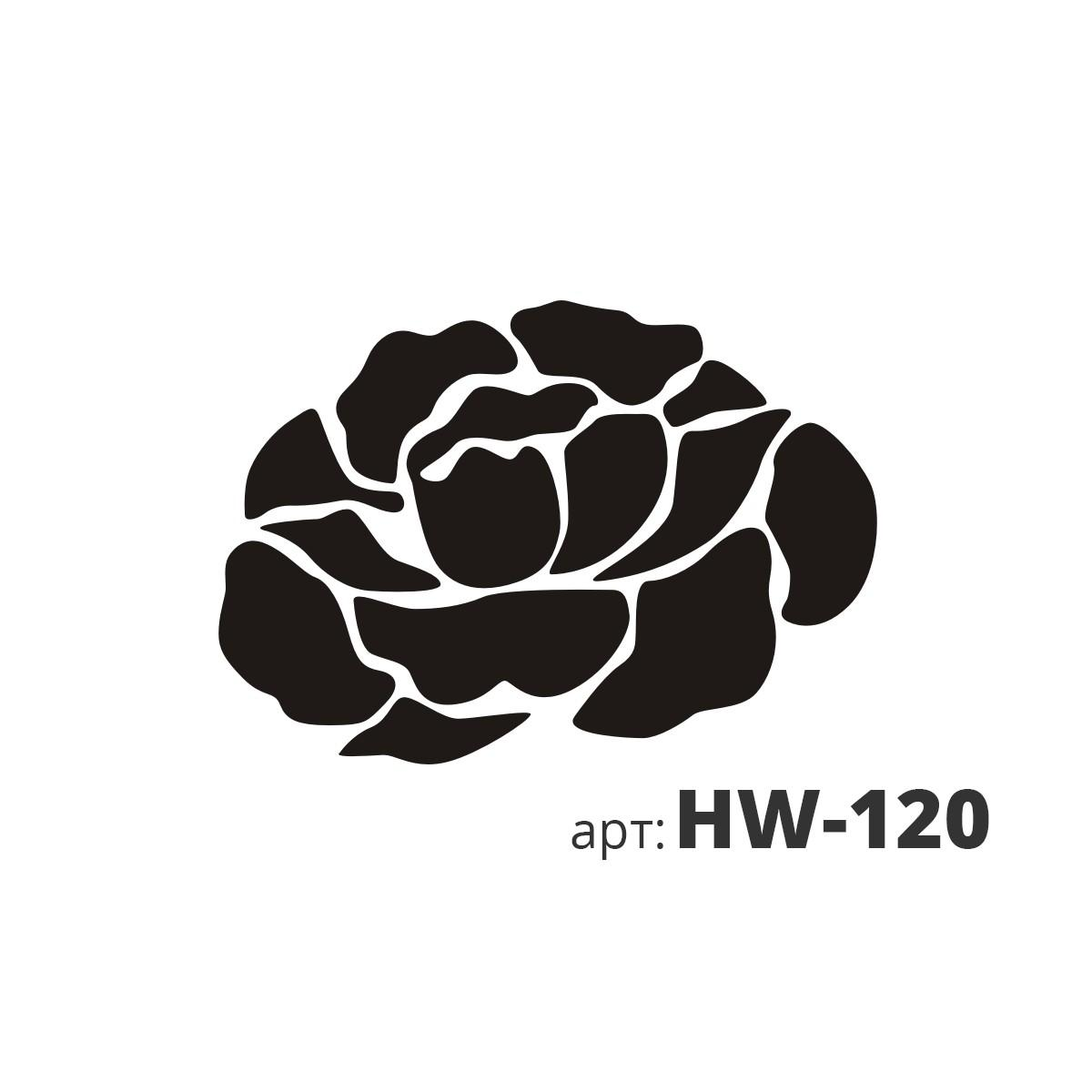 Трафарет виниловый ОДИНОКАЯ РОЗА HW-120