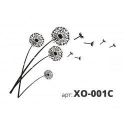 Трафарет виниловый ОДУВАНЧИКИ (из 4х частей) XO-001C