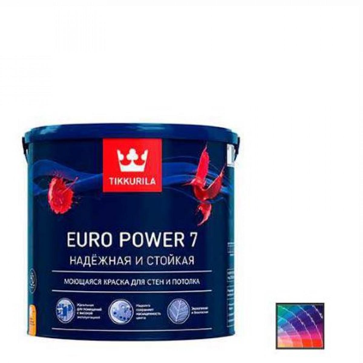 Краска для стен и потолков Tikkurila Euro Power 7 база А 0,9 л