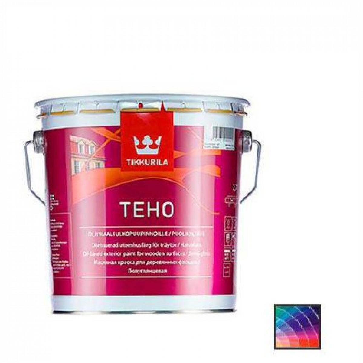 Краска для дерева Tikkurila Teho oljumaali база А 9 л