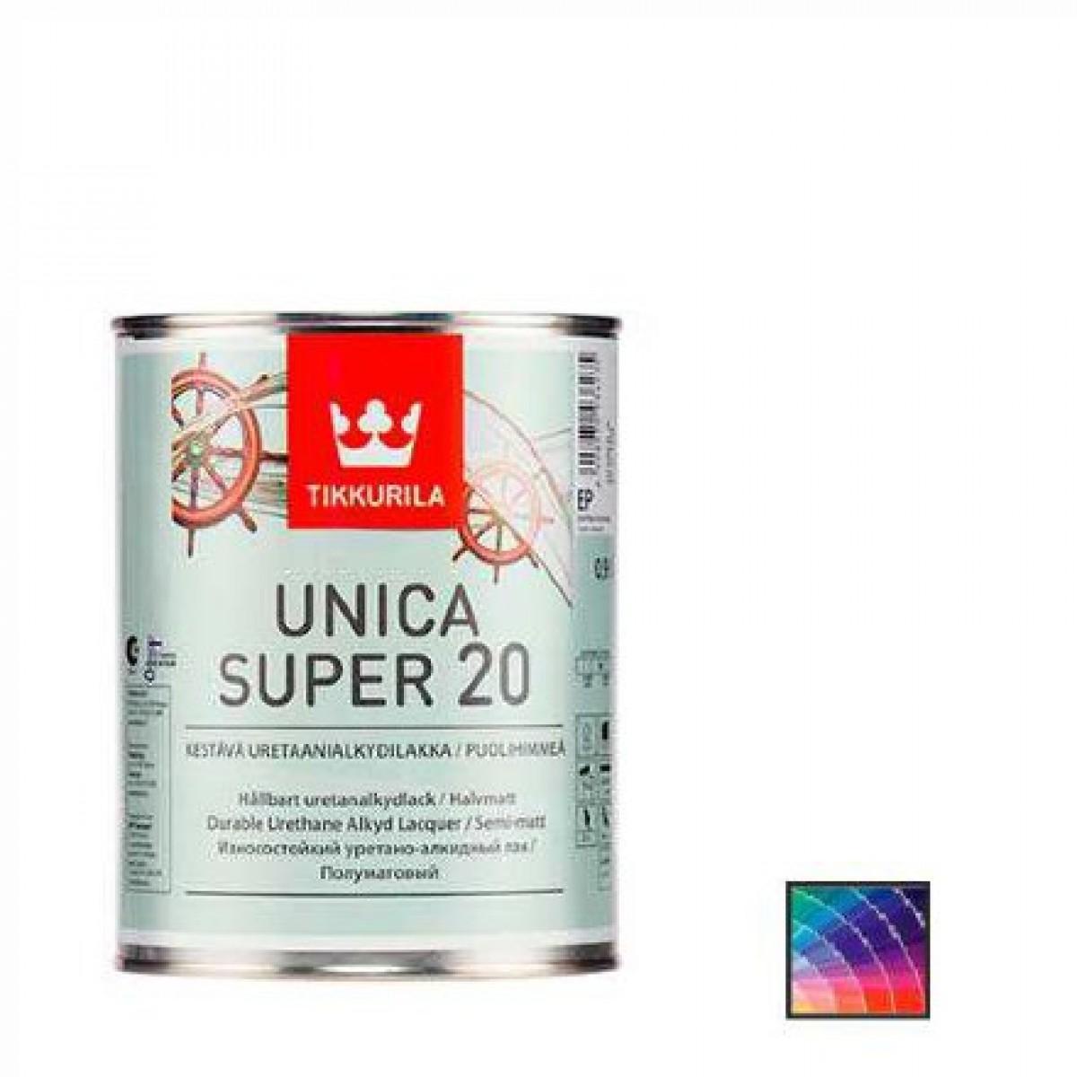 Лак корабельный Tikkurila Unica Super 20 0,9 л