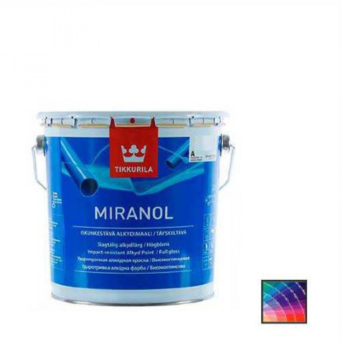 Эмаль универсальная Tikkurila Miranol база А 2,7 л