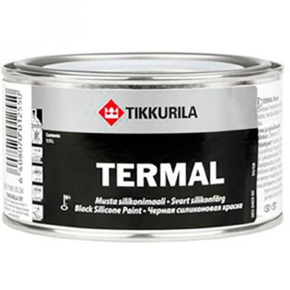 Краска для металла термостойкая Tikkurila Termal черная 0,33 л