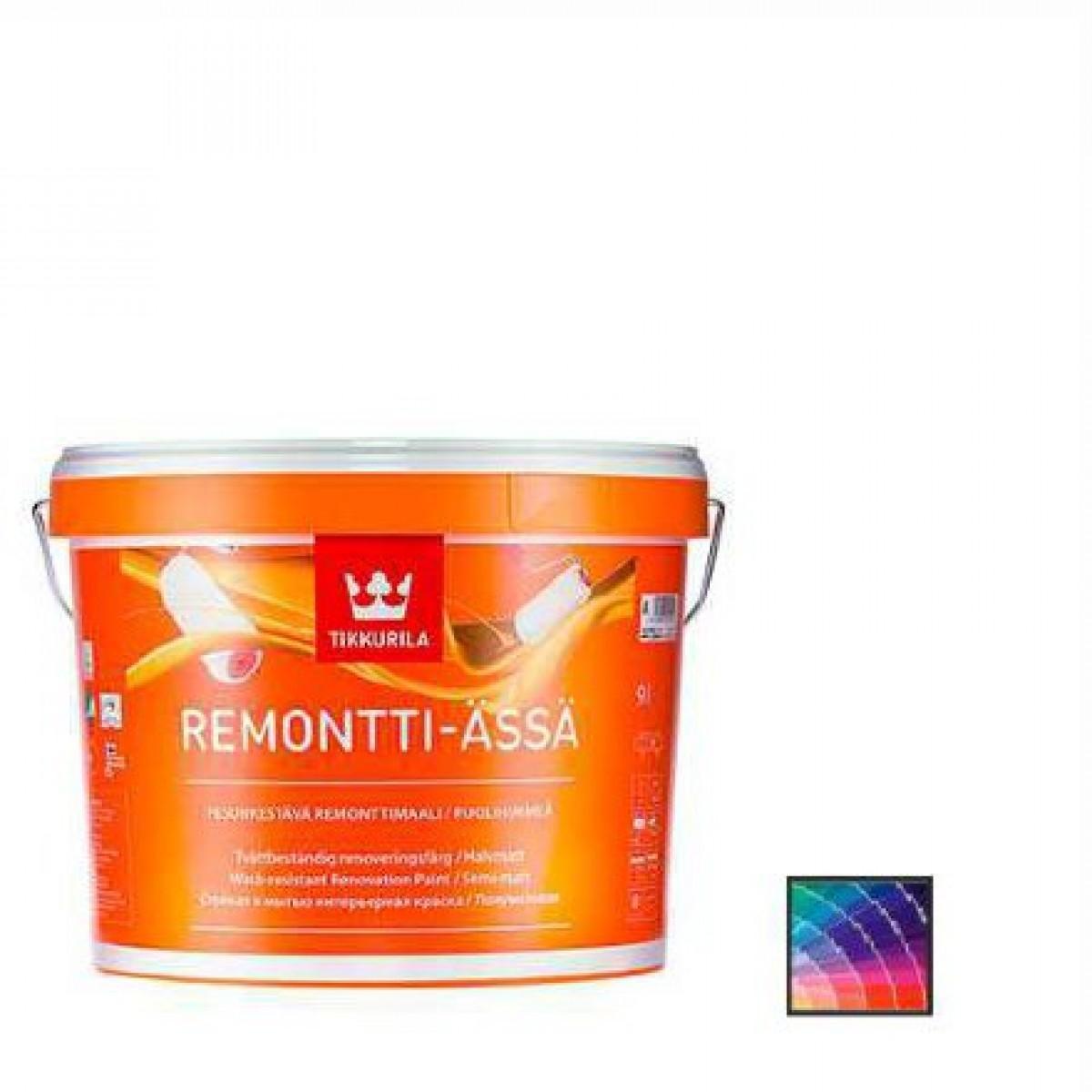 Краска для стен и потолков Tikkurila Remontti Assa база А 9 л
