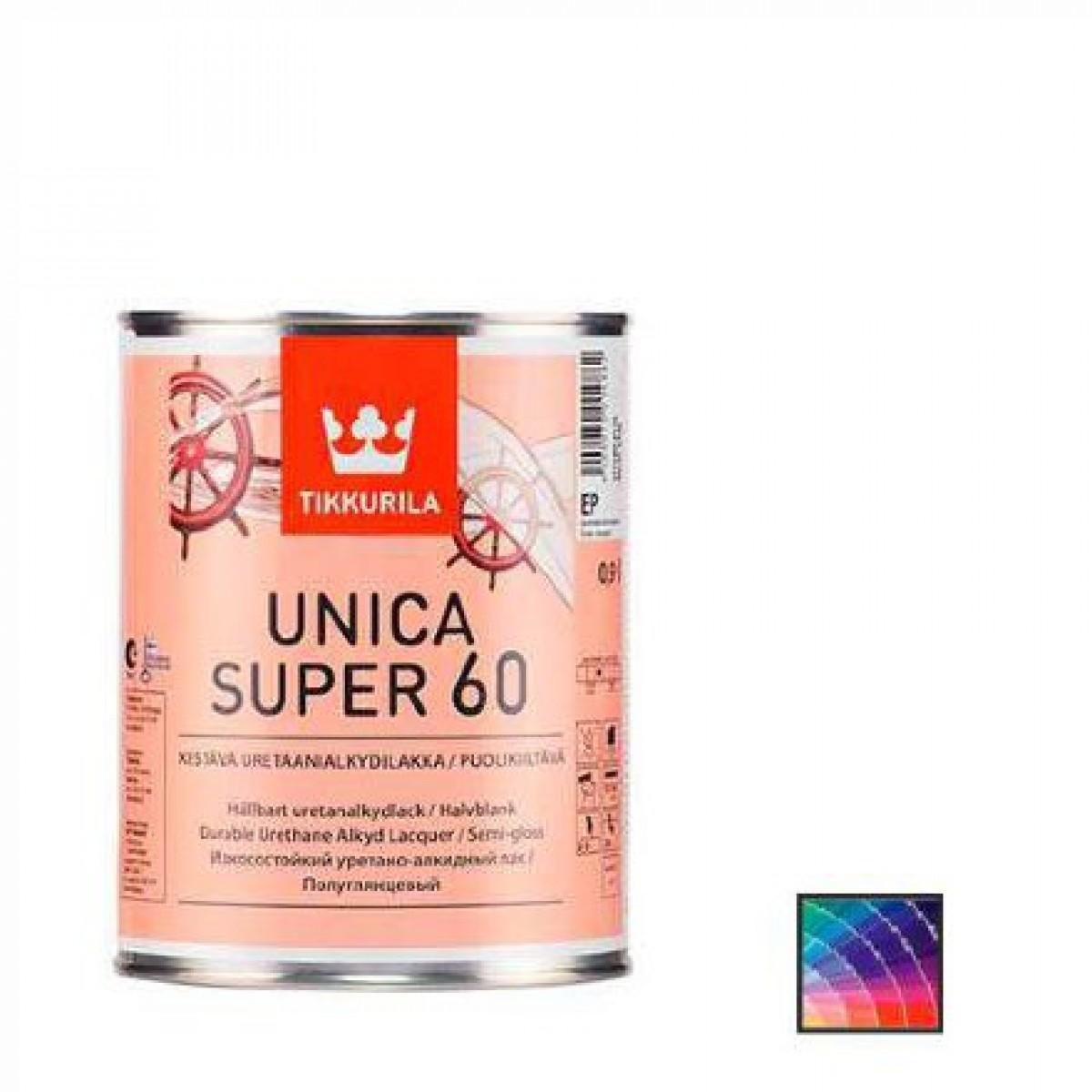 Лак корабельный Tikkurila Unica Super 60 9 л