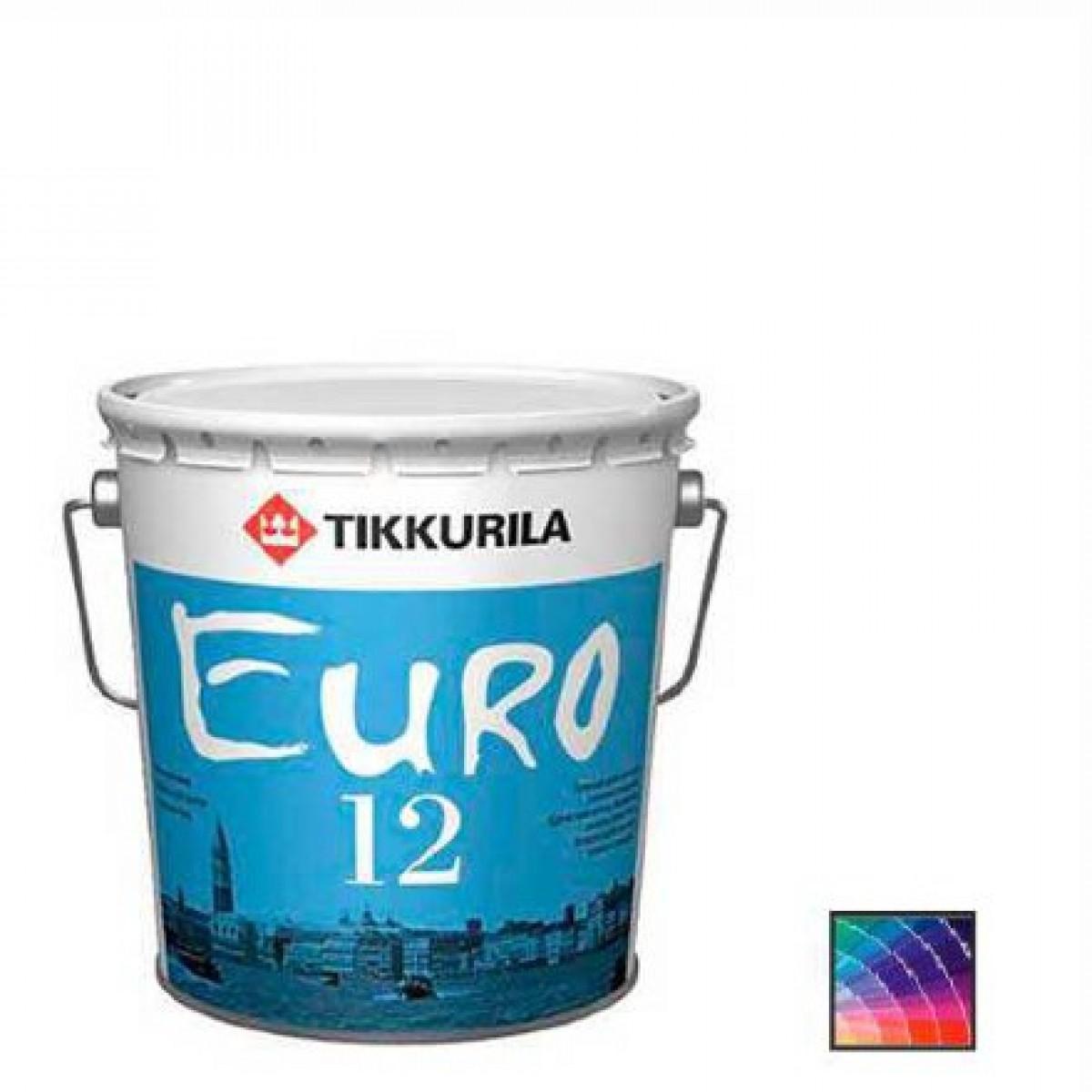 Краска для стен и потолков Tikkurila Euro 12 база С 9 л
