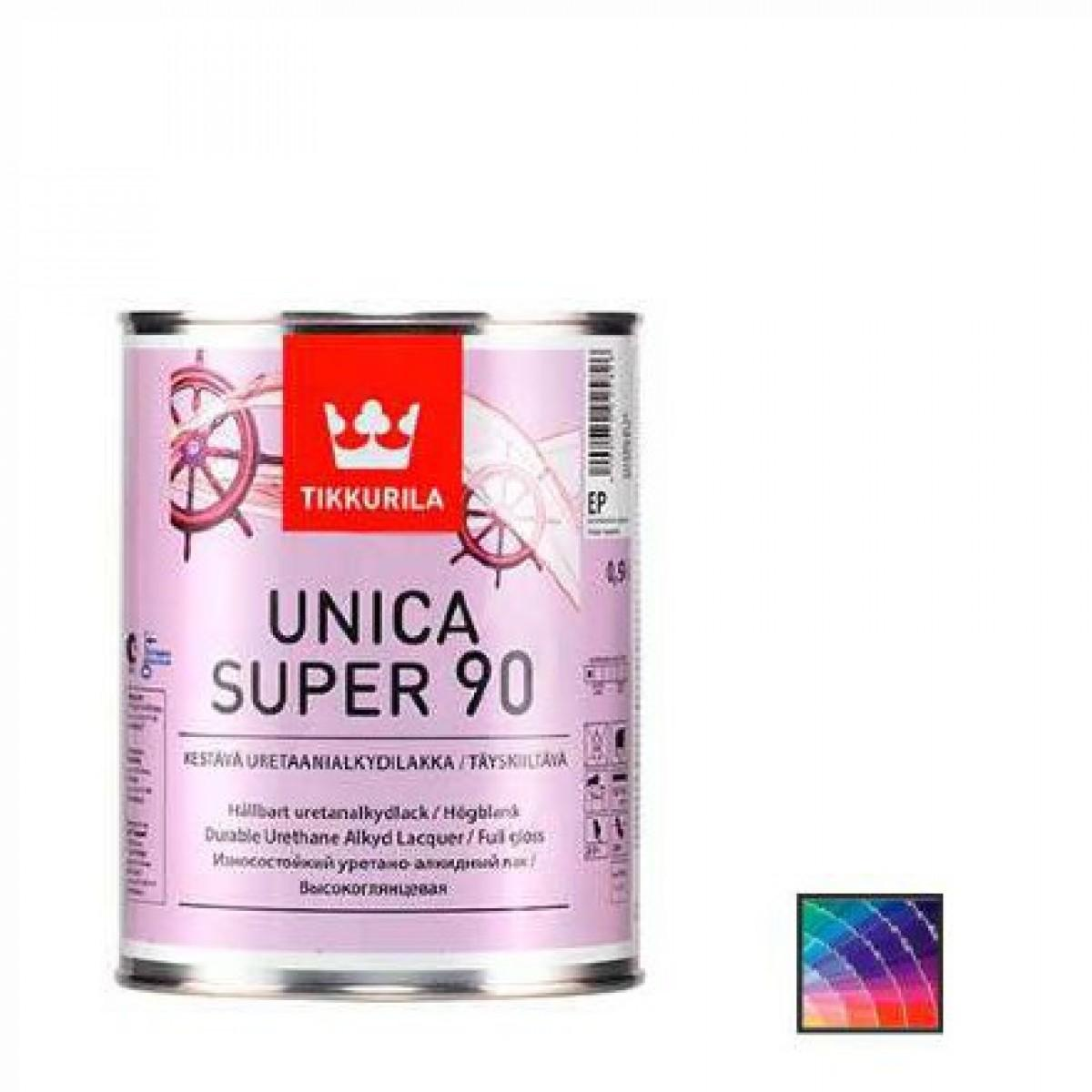 Лак корабельный Tikkurila Unica Super 90 9 л